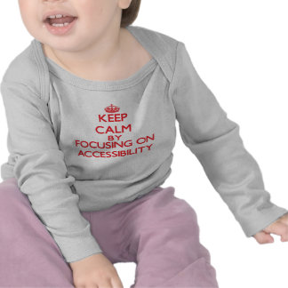 Keep Calm by focusing on Accessibility T-shirt