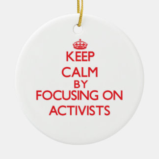 Keep Calm by focusing on Activists Ornament