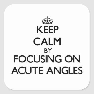 Keep Calm by focusing on Acute Angles Square Sticker