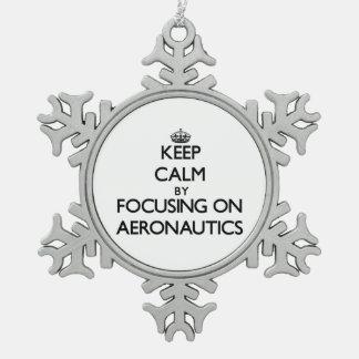 Keep calm by focusing on Aeronautics Ornament