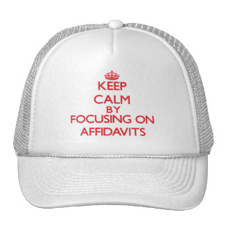 Keep Calm by focusing on Affidavits Mesh Hats
