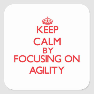 Keep Calm by focusing on Agility Square Sticker