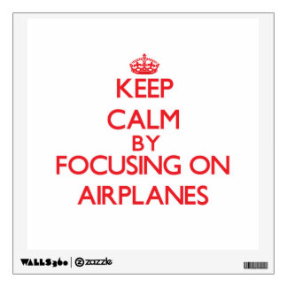 Keep Calm by focusing on Airplanes Room Graphics