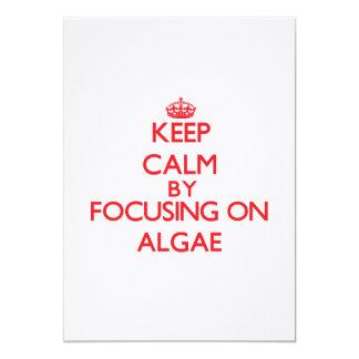 """Keep Calm by focusing on Algae 5"""" X 7"""" Invitation Card"""
