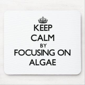 Keep Calm by focusing on Algae Mouse Pad