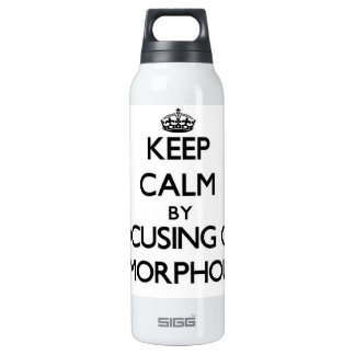 Keep Calm by focusing on Amorphous 16 Oz Insulated SIGG Thermos Water Bottle