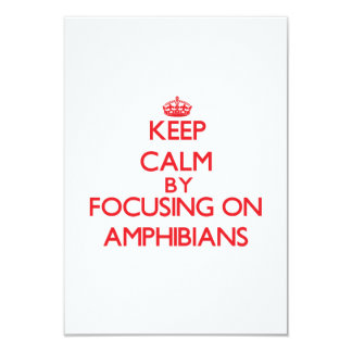 Keep Calm by focusing on Amphibians 3.5x5 Paper Invitation Card