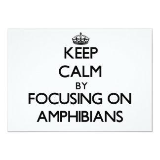 Keep Calm by focusing on Amphibians 5x7 Paper Invitation Card