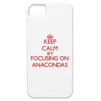 Keep calm by focusing on Anacondas iPhone 5 Cases