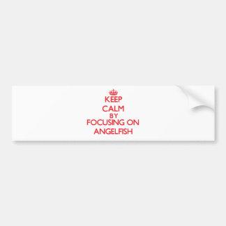 Keep calm by focusing on Angelfish Car Bumper Sticker