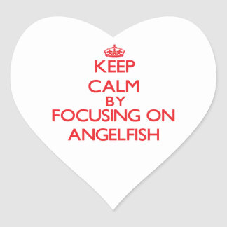 Keep calm by focusing on Angelfish Heart Stickers