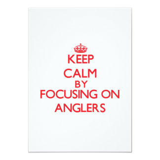 Keep Calm by focusing on Anglers Personalized Announcement