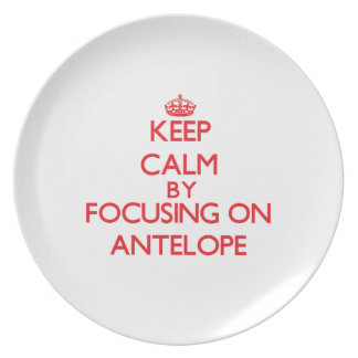Keep calm by focusing on Antelope Party Plates
