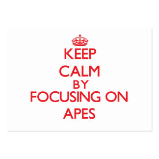 Keep calm by focusing on Apes Large Business Cards (Pack Of 100)