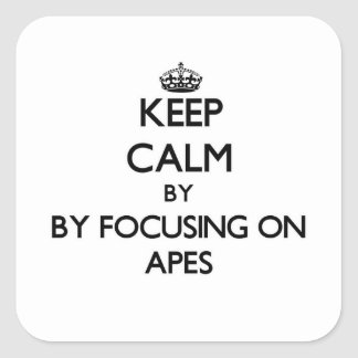Keep calm by focusing on Apes Sticker