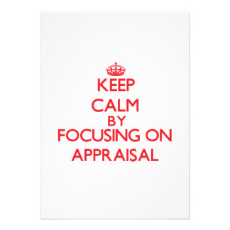 Keep Calm by focusing on Appraisal Announcements