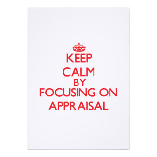 Keep Calm by focusing on Appraisal Personalized Invites