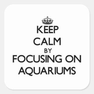 Keep Calm by focusing on Aquariums Sticker