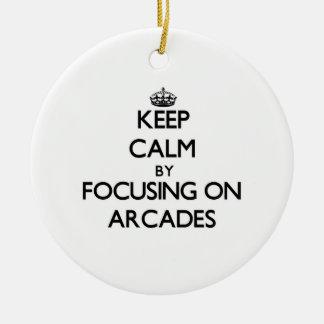 Keep Calm by focusing on Arcades Christmas Ornaments