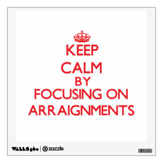 Keep Calm by focusing on Arraignments Room Graphics