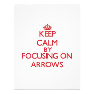 Keep Calm by focusing on Arrows Flyer