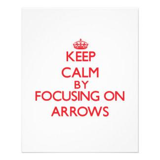 Keep Calm by focusing on Arrows Custom Flyer