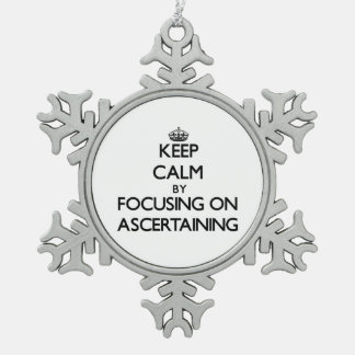 Keep Calm by focusing on Ascertaining Snowflake Pewter Christmas Ornament