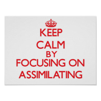 Keep Calm by focusing on Assimilating Print