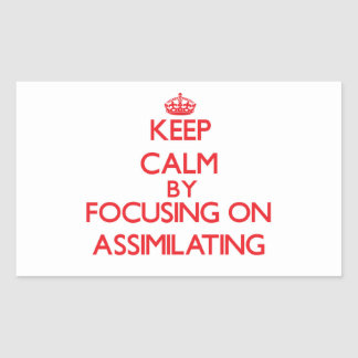 Keep Calm by focusing on Assimilating Stickers