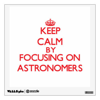 Keep Calm by focusing on Astronomers Wall Skins