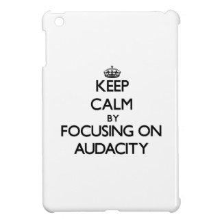 Keep Calm by focusing on Audacity iPad Mini Covers
