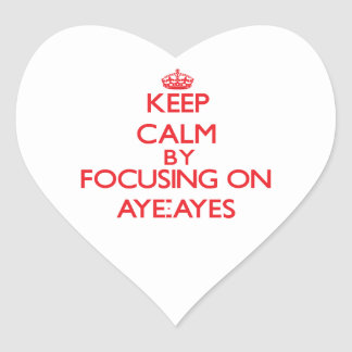 Keep calm by focusing on Aye-Ayes Sticker