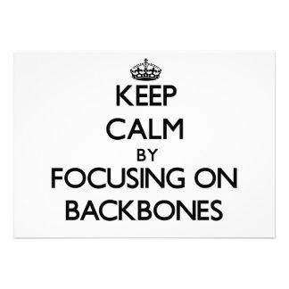 Keep Calm by focusing on Backbones Custom Invites