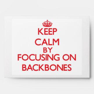 Keep Calm by focusing on Backbones Envelopes