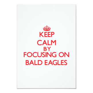 Keep Calm by focusing on Bald Eagles 3.5x5 Paper Invitation Card