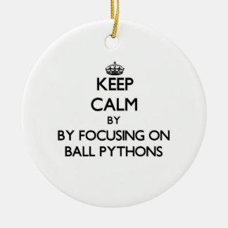 Keep calm by focusing on Ball Pythons Christmas Ornament