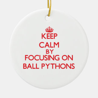Keep calm by focusing on Ball Pythons Christmas Tree Ornaments