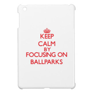 Keep Calm by focusing on Ballparks iPad Mini Case