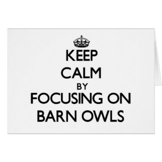 Keep Calm by focusing on Barn Owls Stationery Note Card