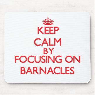 Keep Calm by focusing on Barnacles Mouse Pad