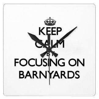 Keep Calm by focusing on Barnyards Wall Clocks