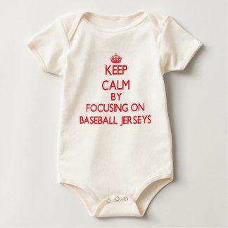Keep Calm by focusing on Baseball Jerseys Bodysuit