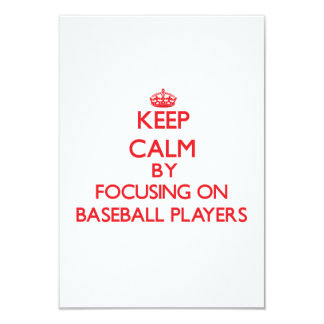 Keep Calm by focusing on Baseball Players Personalized Announcements