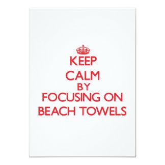 Keep Calm by focusing on Beach Towels Custom Announcements