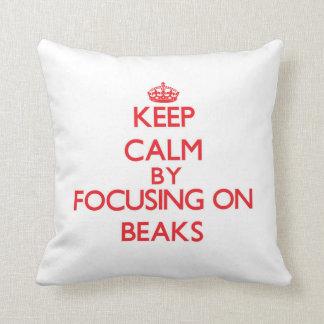Keep Calm by focusing on Beaks Pillow