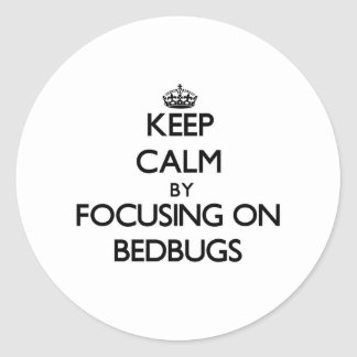 Keep Calm by focusing on Bedbugs Round Sticker
