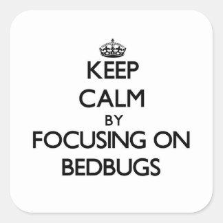 Keep Calm by focusing on Bedbugs Sticker