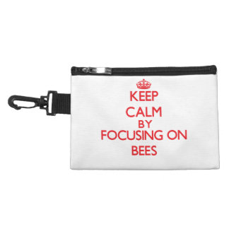 Keep calm by focusing on Bees Accessory Bags