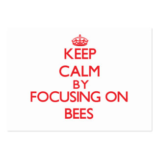 Keep calm by focusing on Bees Business Card Template