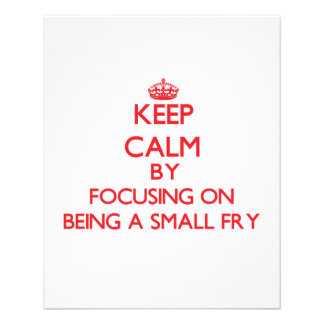 Keep Calm by focusing on Being A Small Fry Flyer